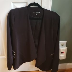Blazer with zipper detail